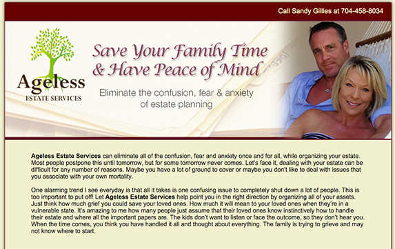 Ageless Estate Services website created by AST Studio