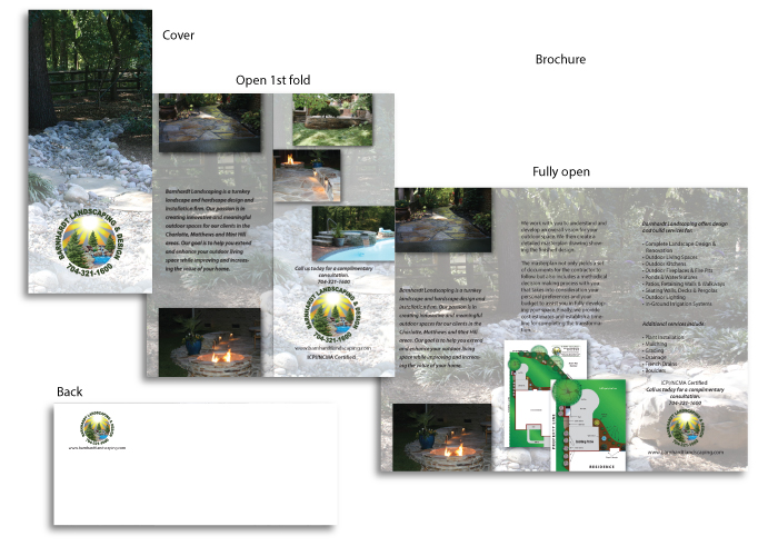 Barnhardt Landscaping brochure created by AST Studio