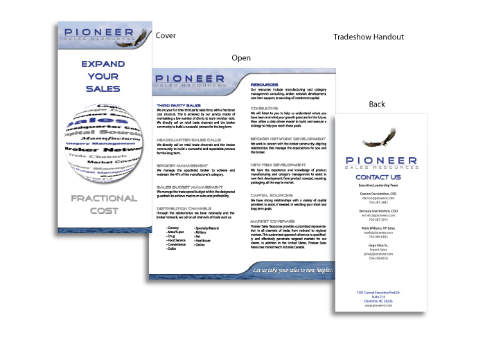 Pioneer brochure created by AST Studio